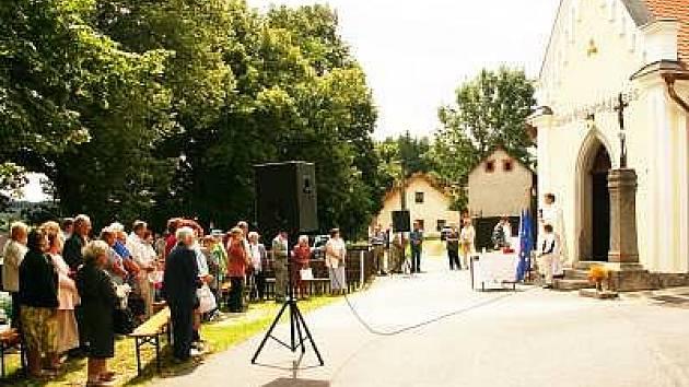 Otevření kaple ve Skránčicích