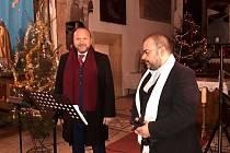 Vánoční koncert Milana Suleje a Rostislava Chrousta v Chudenicích.