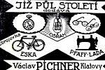Dobový inzerát z klatovských novin z let 1920 - 1930