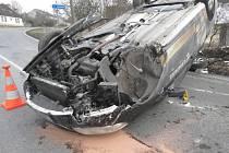 Nehoda v Nalžovských Horách.