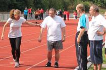 Atletický den v Klatovech za účasti klientů DOZP Bystřice, DSS Libín, Centra STROMDUB Prachatice a klatovských atletů.