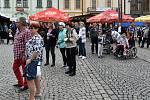 Klatovská pouť - Pelíškové na náměstí.