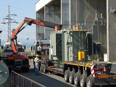 Nový transformátor v klatovské rozvodně