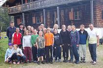 Skupina dětí, která navštívila NP Bavorský les.