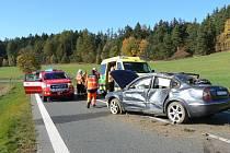 Dopravní nehoda u Bukováku, tři zranění.