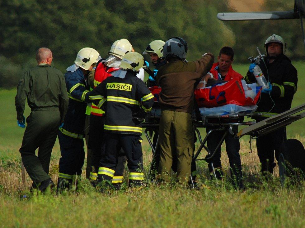 Nehoda při závodech v amatérském rallyecrossu v Rabi