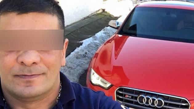 Jeden z obžalovaných v kauze šumavských kuplířů, Rumun Mario Robert M. (44).