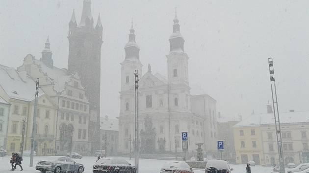 Klatovsko opět zasypal sníh.