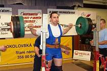 Jiří Pinkava z TJ Sokol Klatovy obsadil v kategorii do 105 kg 2. místo a vylepšil si osobní rekord.