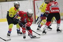 Liga starších žáků: HC Klatovy (červené dresy) - TJ Lokomotiva Veselí nad Lužnicí 7:8