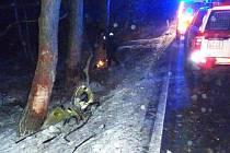 Tragická dopravní nehoda mezi Kroměždicemi a Vítkovicemi.