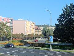 Prostranství, které bude pojmenováno náměstí Přemysla Otakara II.