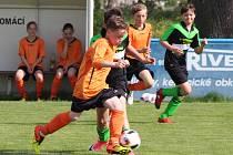 Fotbal, okresní přebor mladších žáků: Strážov (oranžoví) - Železná Ruda
