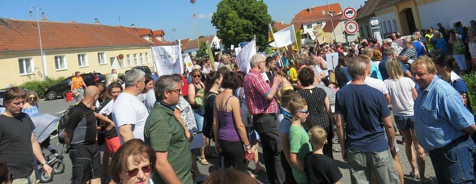 Blokáda ve Velkém Boru na Horažďovicku.