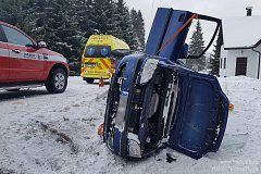 Dopravní nehody u Hartmanic, Divišovic a v Klatovech.
