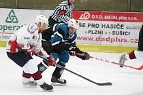 Krajská hokejová liga 2016/2017: HC Klatovy B (bílé dresy) - TJ Sušice 10:3