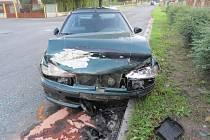 Nehoda dvou vozů v Horažďovicích.