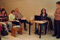 Foto ze slavnostního zahájení Virtuální univerzity 3. věku v Horažďovicích.