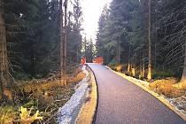 Nové cesty, které vznikly v Krušných horách v okolí Božího Daru.