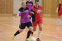 Zimní dívčí amatérská fotbalová liga 2016/2017: Šelmy Blovice (oranžové dresy) - PS Křeč Mochtín 0:14