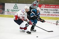 Hokejisté Sušice (na archivním snímku hráči v tmavých dresech) nehráli. Luby prospaly druhou třetinu a nakonec padly 3:5.