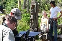 Natáčení u Pramenů Vltavy
