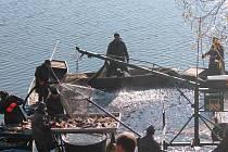 Výlov rybníka Hnačov 31. října.