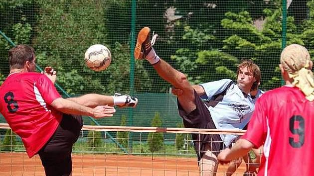 Úvodní dvojice NK Janovice Jiří Macura a Daniel Růžička vybojovali v utkání se Startem Plzeň první bod.