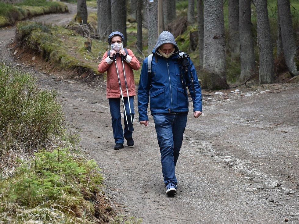"""Po """"koronavirové"""" pauze se na prvního máje veřejnosti poprvé otevřela návštěvnická centra šumavského národního parku na Srní a na Kvildě."""