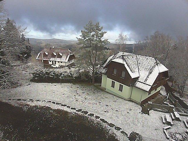 Páteční sníh na Hojsově Stráži.