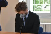 Martin Valeček u klatovského soudu.