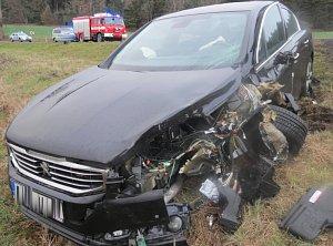 Nehoda u Číhaně.