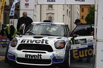 Start 49. Rallye Šumava Klatovy.