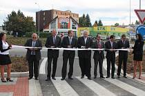 Otevření kruhového objezdu u nové Klatovské nemocnice