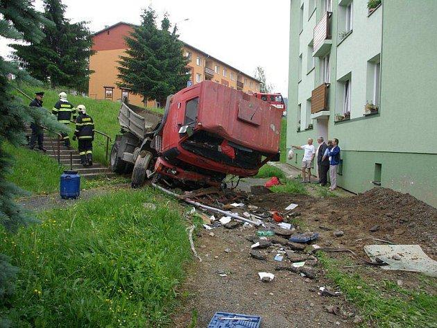 Nehoda v Železné Rudě