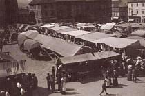 Dobový snímek poutě v Klatovech