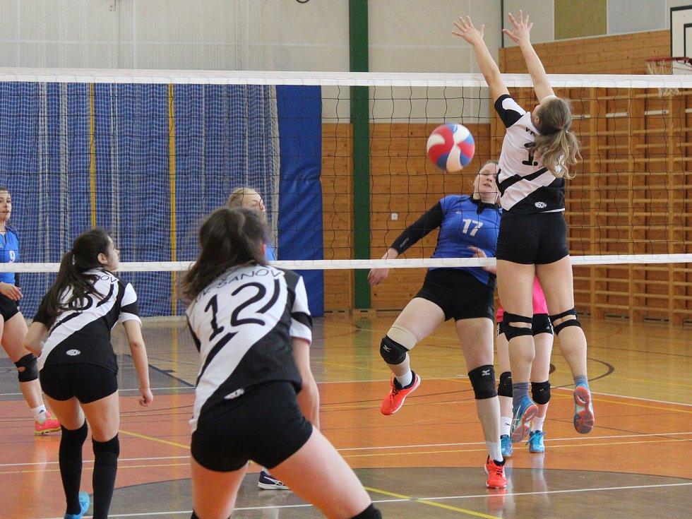 Volejbal, 1. liga juniorek Klatovy - Teplice