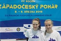 Na fotografii je Julie Novosádová (vlevo) s Barborou Mrkosovou (vpravo).