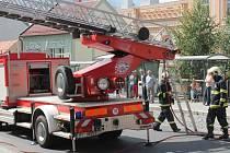 Požár v Klatovech ve Vídeňské ulici