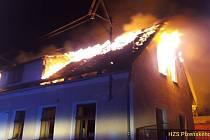 Požár v Hlavňovicích.