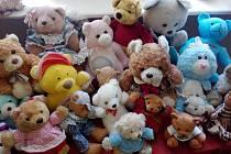 Výstava medvědů na zámku v Chudenicích.