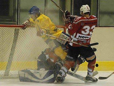 Hokejisté SHC Klatovy podlehli ve středu večer na ledě v Milevsku svým hostitelům v utkání  třetího kola druholigové nadstavby sudá – lichá 2:3.