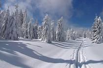 Prášily, zimní cesta