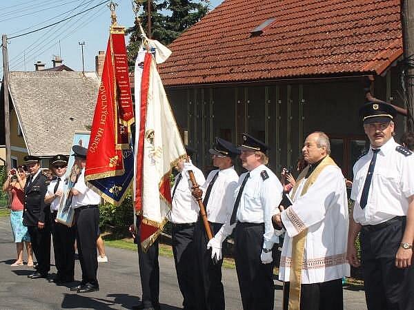 Slavnostní otevření hasičského muzea v Běhařově