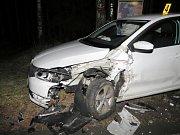 Dopravní nehoda u Hartmanic.