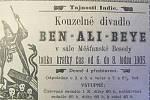 Dobový inzerát z klatovských novin