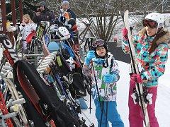 Padá sníh, lyžařská centra na Šumavě jsou opět plná