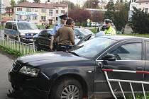 Dopravní nehoda bez zranění v Klatovech