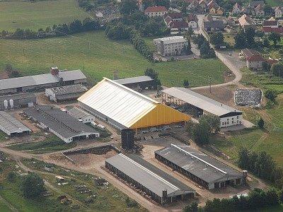 Nová stáj produkčních dojnic v Malém Boru
