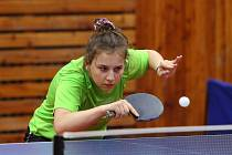 Sušická stolní tenistka Helena Sommerová (na snímku) se opět ukázala. V Ostravě vybojovala další úspěch.